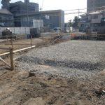 【猪子石原6棟】 北棟基礎工事