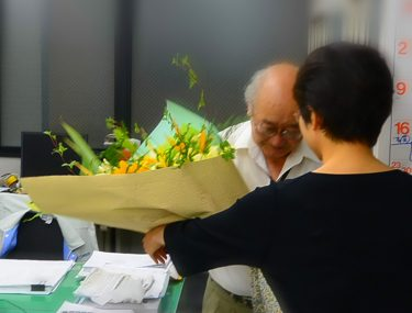 建築管理部H部長の定年退職